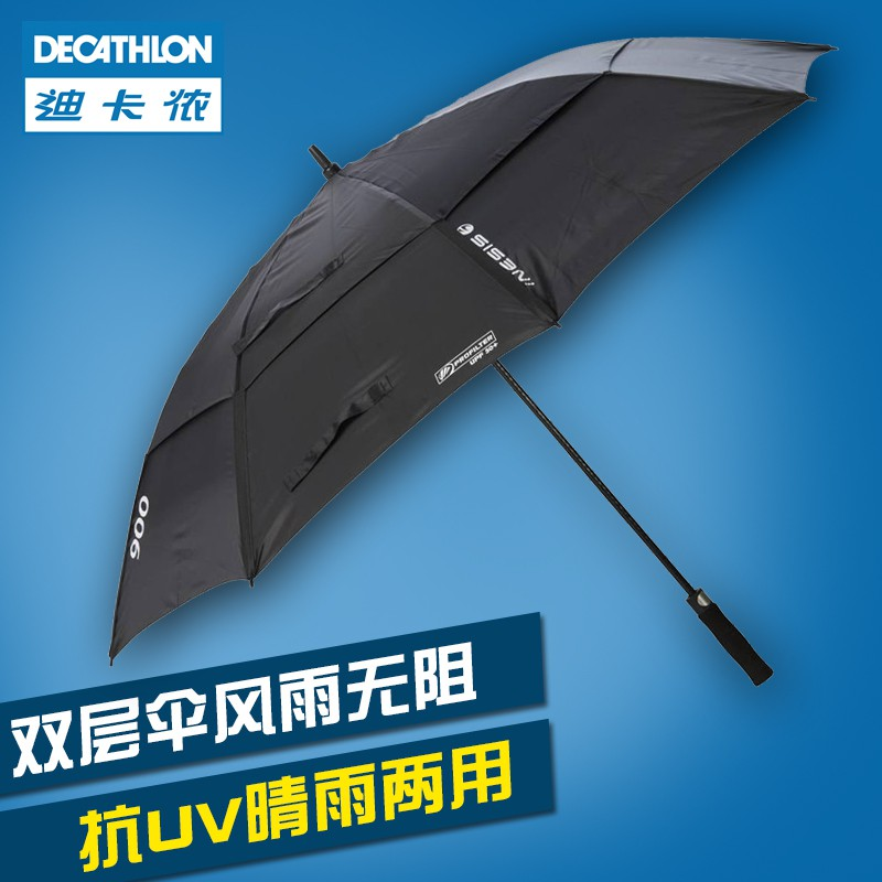 Mmdecathlon Umbrella Golf Long Handle Double Large Super Windproof Double Sunsc