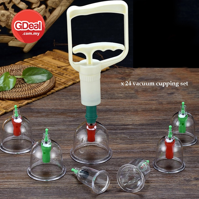 GDeal 24 Cans Set Vacuum Cupping Machine Traditional Chinese Medicine Massage Therapy Suction Acupuncture