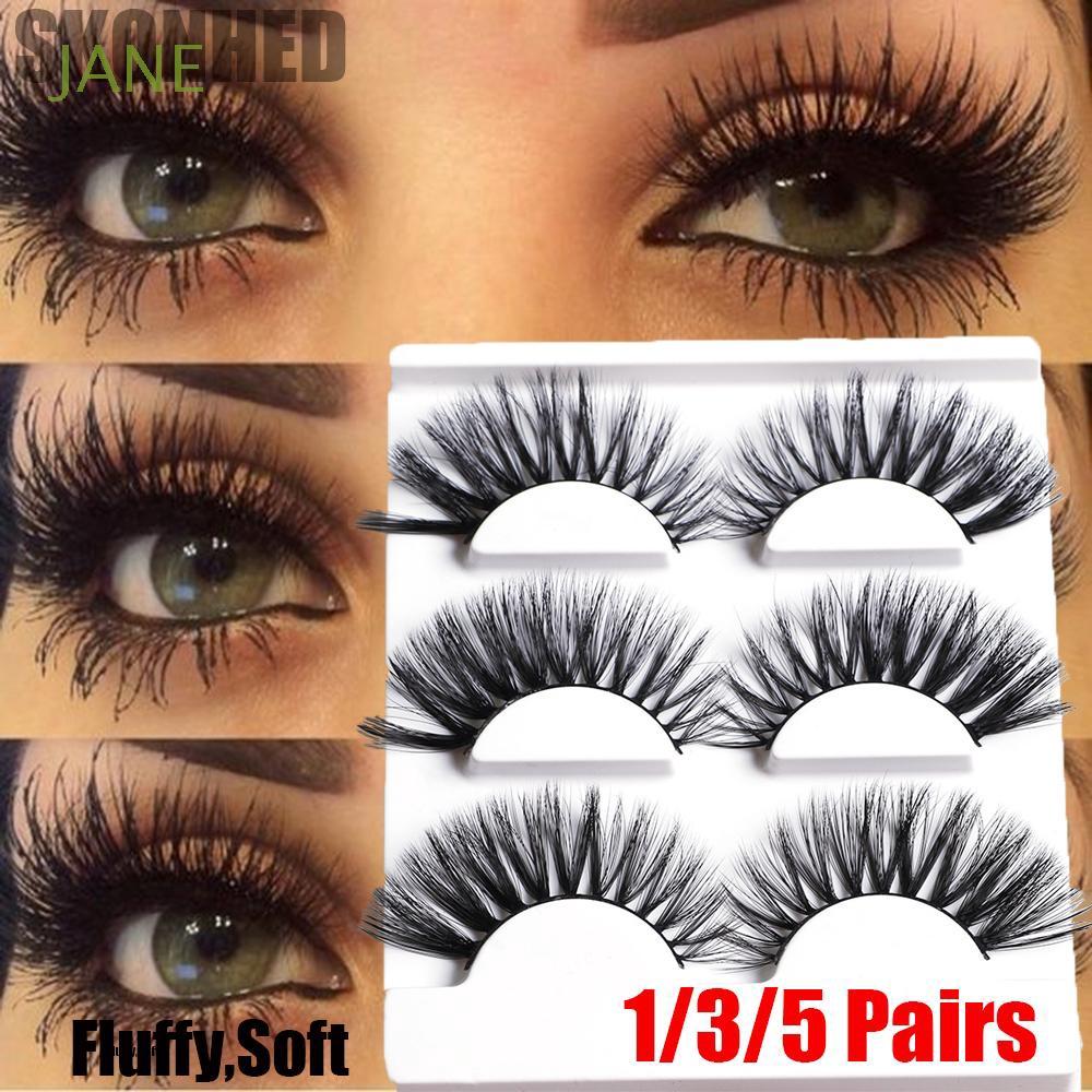 ea7ce3bb5d9 ProductImage. ProductImage. SKONHED 1/3/5 Pairs Handmade Natural Fluffy  Wispy Flared False Eyelashes
