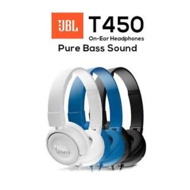 85bf15e91dd (Original) JBL T450 Pure Bass Sound On-Ear Headphones | Shopee Malaysia