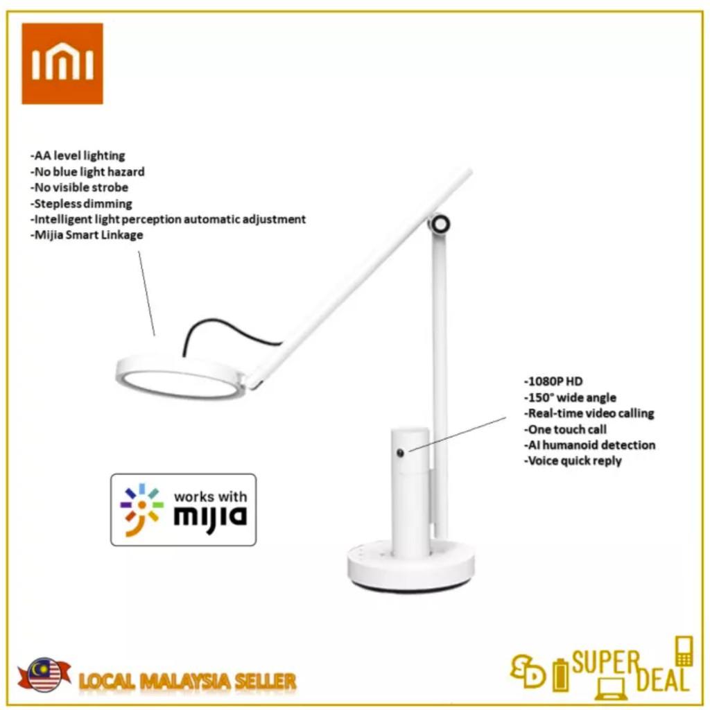 XiaoMi IMILAB ChuangMi XiaoBai CMTD28A Smart Desk Lamp (1080P HD, 150° wide angle, AA level lighting)