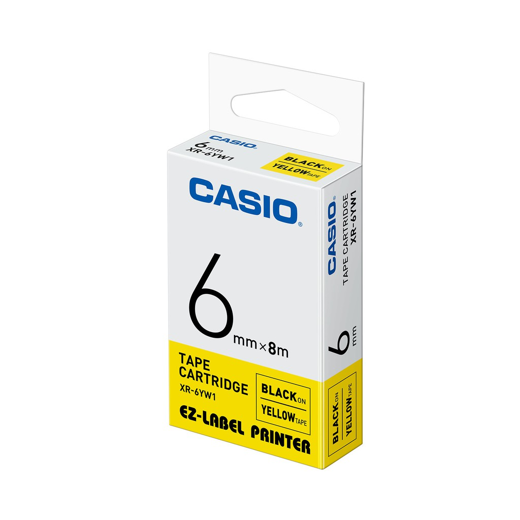 (NEW) CASIO EZ-Label Printer Tape Cartridge - ( 6mm x 8m )