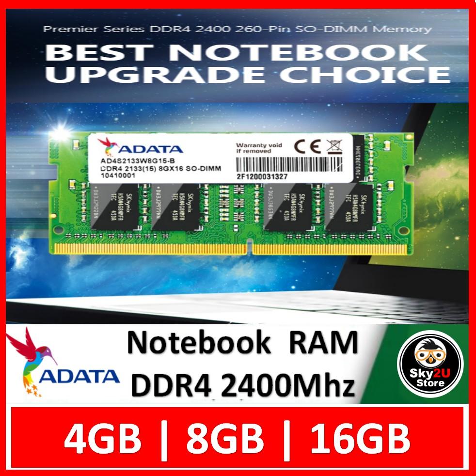 ADATA SODIMM DDR4 RAM 2400MHz Laptop(4GB/8GB/16GB)
