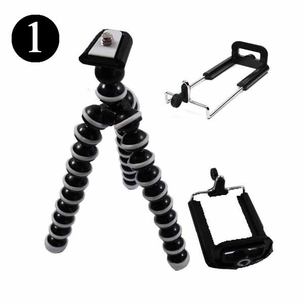 MINI OCTOPUS TRIPOD FOR CAMERA OR PHONE STAND SUPER FLEXIBLE HOLDER