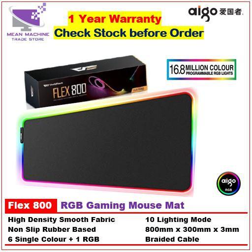 #Aigo Darkflash Flex800 10 Modes RGB Gaming Mouse Pad (800mm x 300mm)#