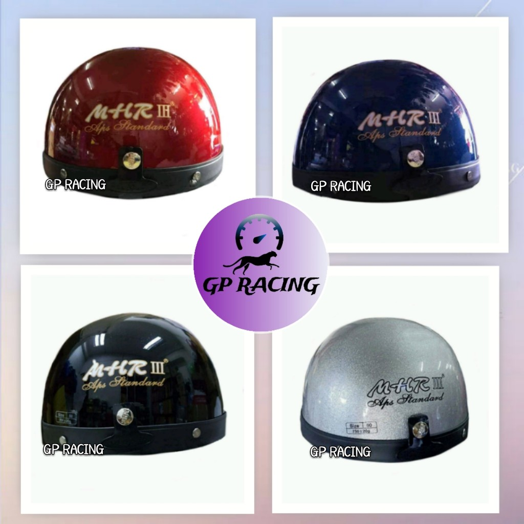 "MHR ORIGINAL HELMET (RED,BLUE,BLACK,SILVER) ""GP RACING"""