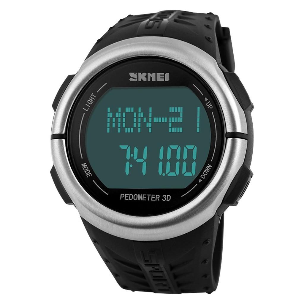 SKMEI 1058 Waterproof Pedometer   Heart Rate Test Wrist Watch ... 9ff98dfbaa