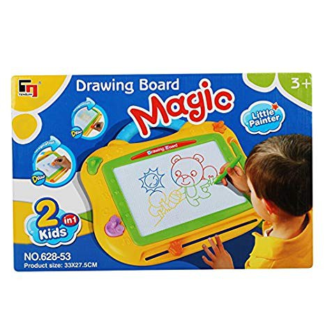 🌟Ready Stock🌟Magic Drawing Board 2 In 1 Kids Sketch Pad - READY STOCK Drawing Board Pad Hand Writing Memo Sketch