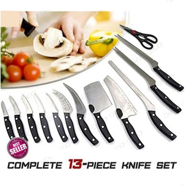 Mibacle Blade Complete 13 Piece Knife Set Full Professional Culinary Tools Set