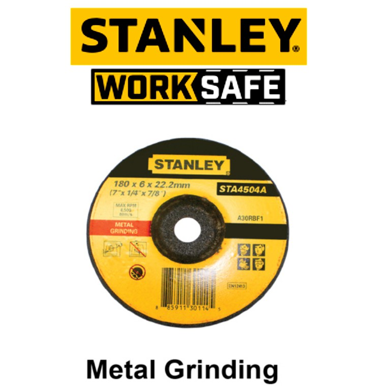 STANLEY STA4504A 7'' 6.0MM METAL GRINDING DISC