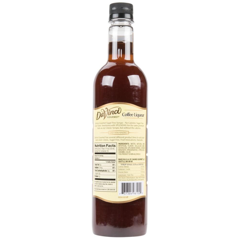 750 mL Sugar Free Coffee Liqueur Syrup
