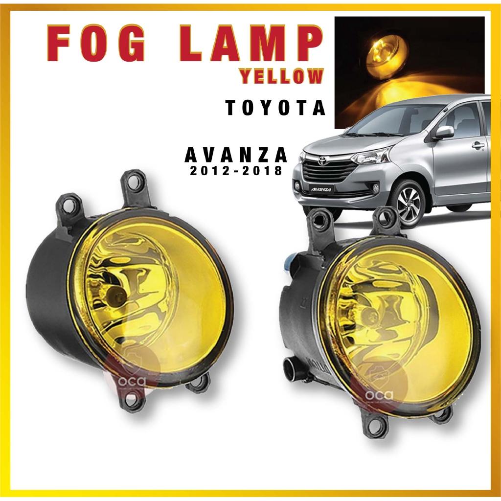 Toyota Universal Car Fog Light / Fog Lamp OEM Fit 2 Pcs for Toyota Avanza 2012-2018 (