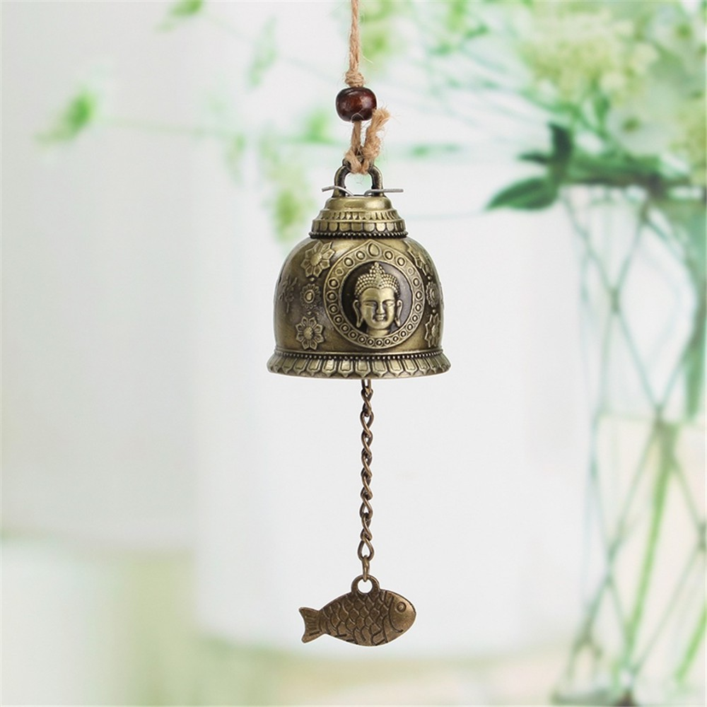 Vintage Feng Shui Geomantic Omen Bell Hanging Blessing Wind Chime Home Ornament