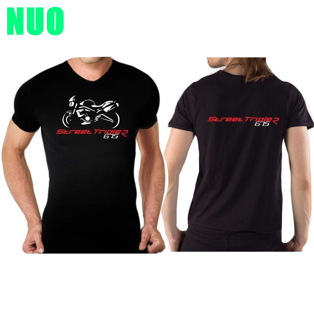 New Triumph Engine Motorcycle Cycling T-Shirt Black Cotton S-5XL