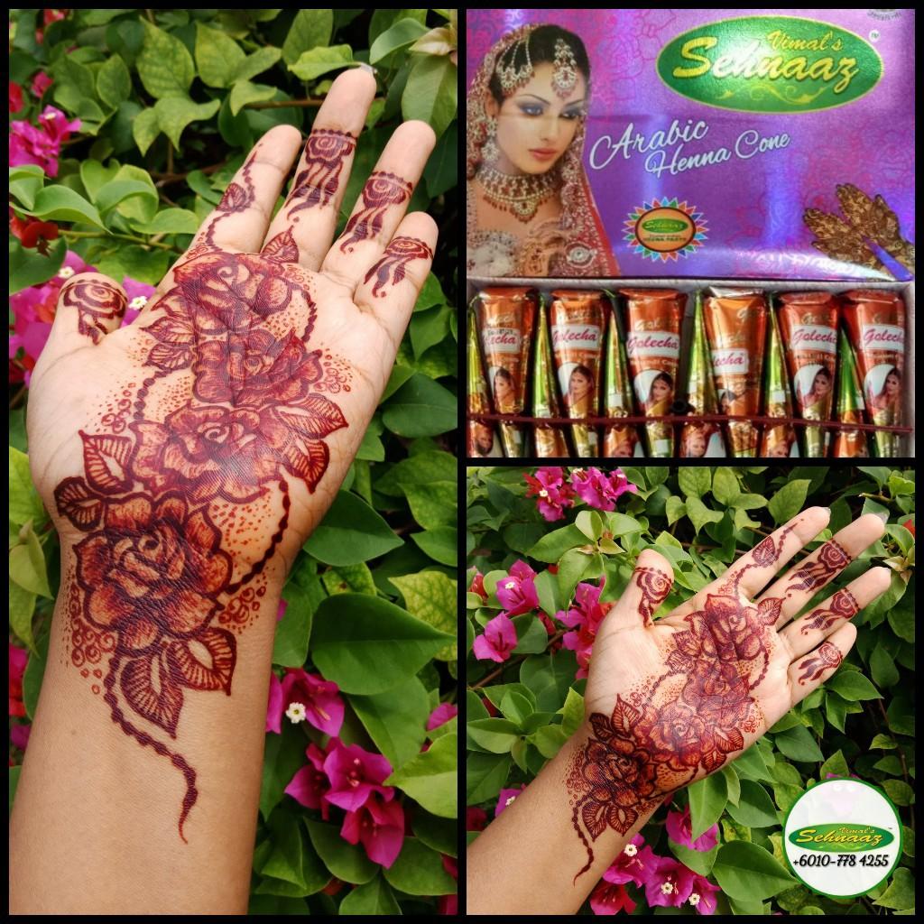12 Pcs Golecha Arabic Henna Sehnaaz Mehndi Arabic Temporary Handy Cone Red Ink