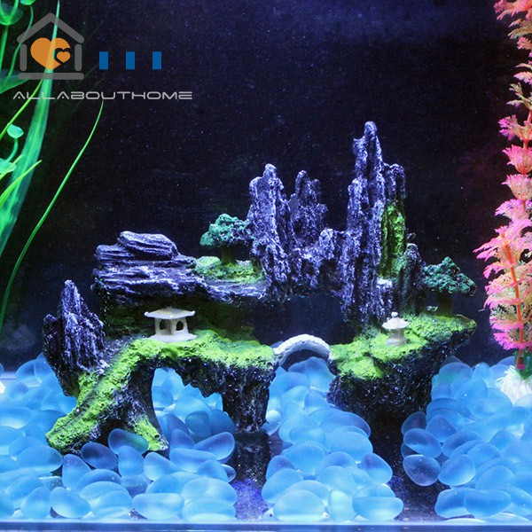 ABH❤ Fish Tank Landscaping Aquarium Rockery Shape Resin Craft Aquarium  Decoration