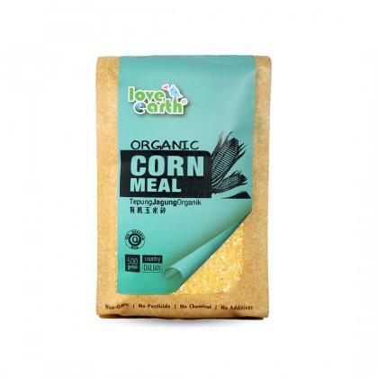 Love Earth Organic Corn Meal 500g 乐儿天然玉米碎 500公克 (袋装)