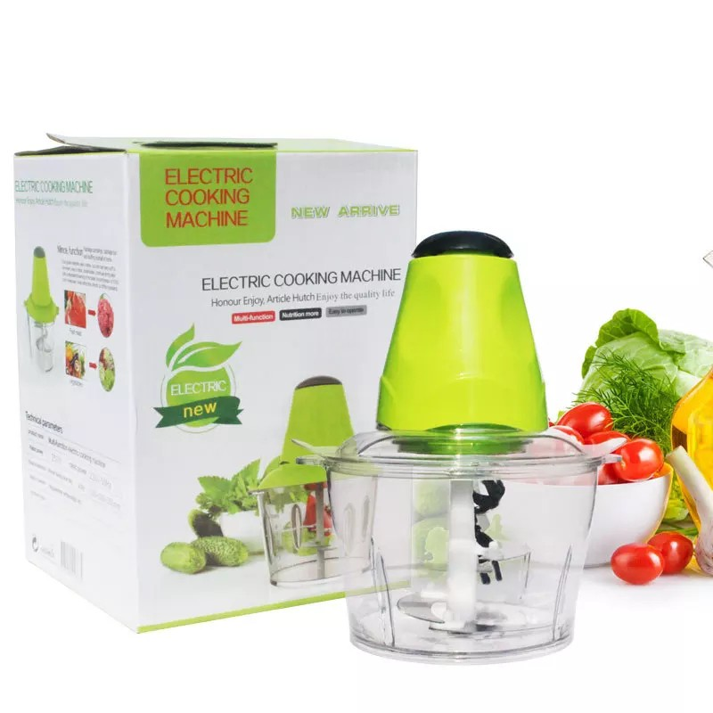 [ READY STOCK ]  Electric Meat Grinder Automatic Vegetable Mincer 2L Capacity Blender Kitchen Mixer Jualan Murah CupTool