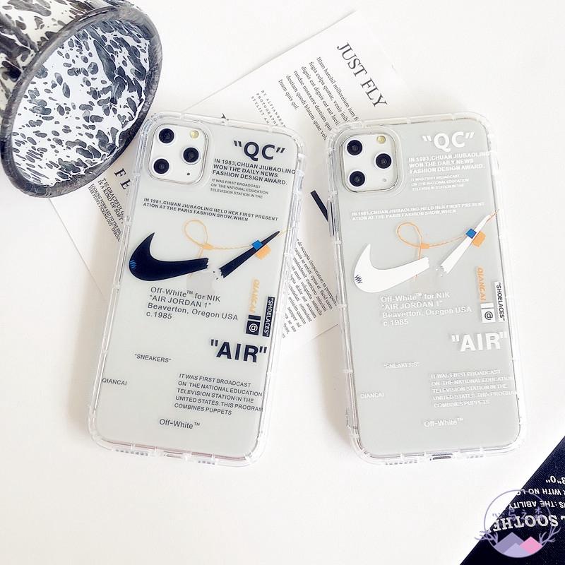 Quagga Superposición permanecer  iPhone 11 Pro MAX Air Jordan Case iPhone 8 Plus Nike Cross Off White iPhone  8 Plus Case Clear Shockproof iPhone XS Case | Shopee Malaysia