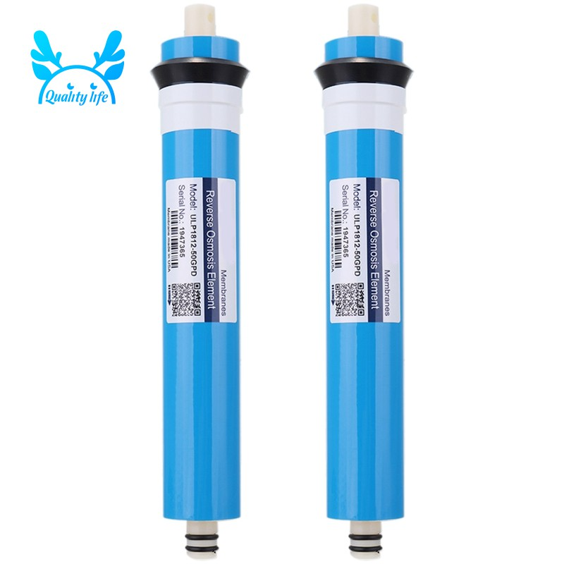 2Pcs ULP1812-50 Residential Water Filter 50 Gpd RO Membrane NSF Used for Reverse Osmosis System