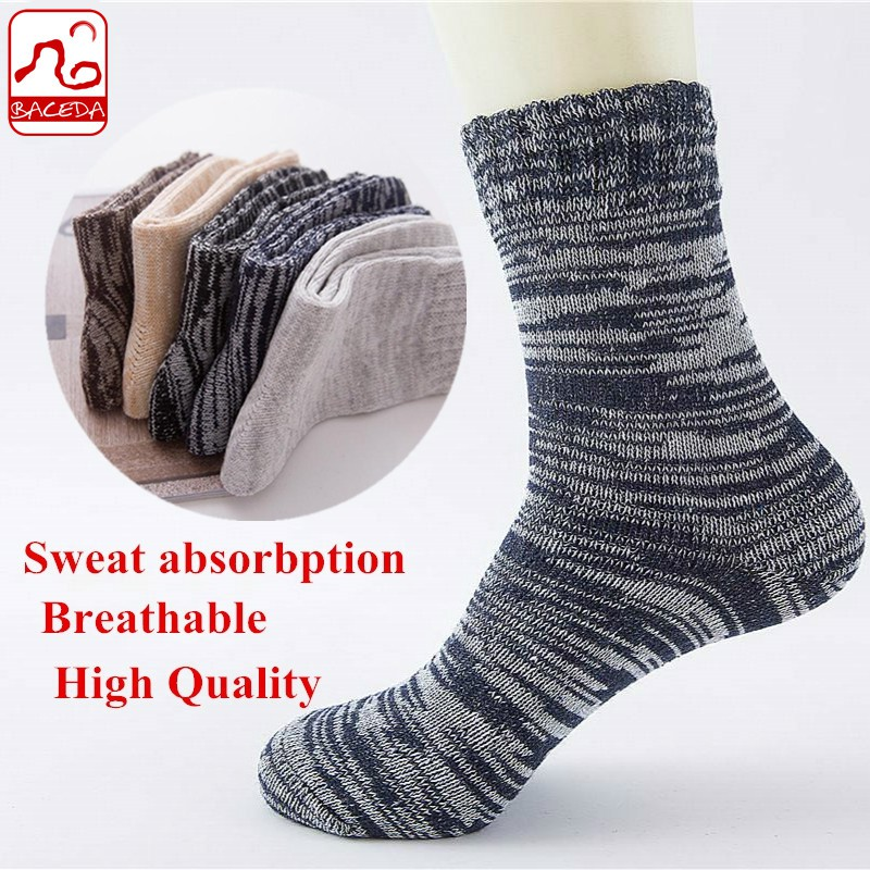 Baceda Men s Socks 5pairs Warm Thick Line Rabbit Wool Sock for Winter  849a52f35eb9