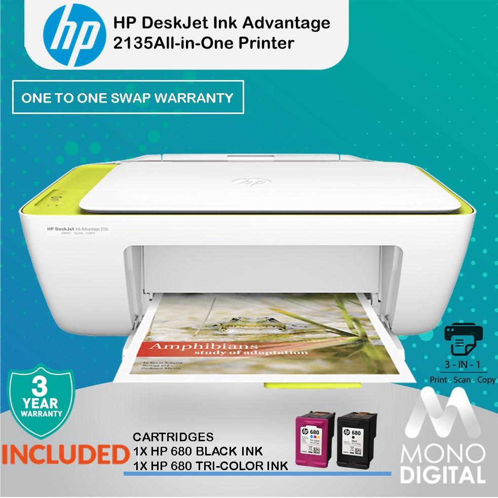 HP DeskJet Ink Advantage 2135 Home Use All-In-One Color Ink Printer  (F5S29B) (Print, Copy, Scan )