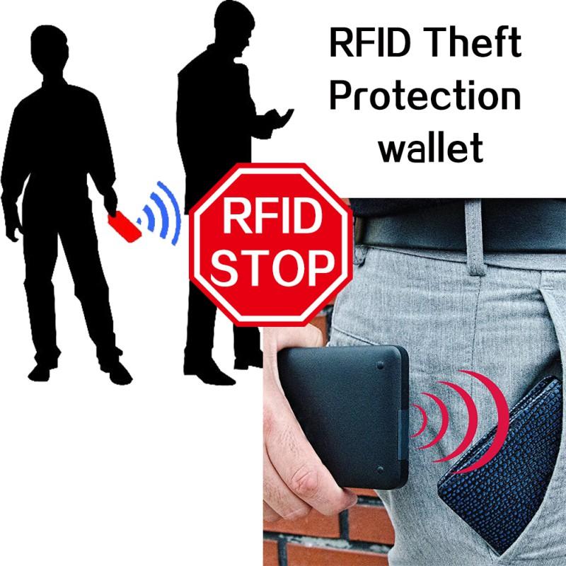 5d4f10065db8 Men RFID Blocking Short Leather Wallet Card Holder Purse | Shopee ...