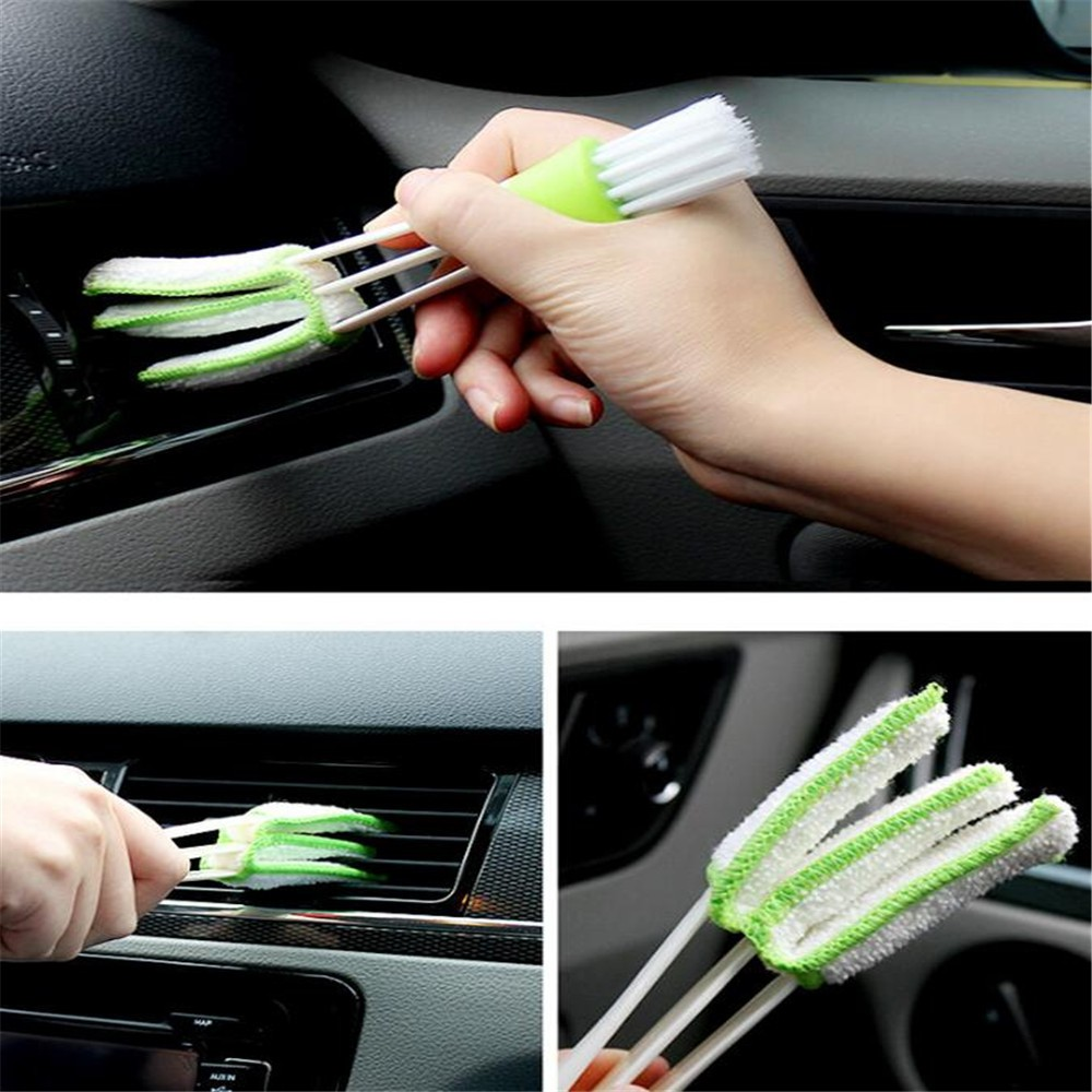 Car Care 1PCS Car Washer Microfiber Car Cleaning Brush for Air-Condition Cleaner Computer Clean Tools Blinds Duster Car Care Detailing A