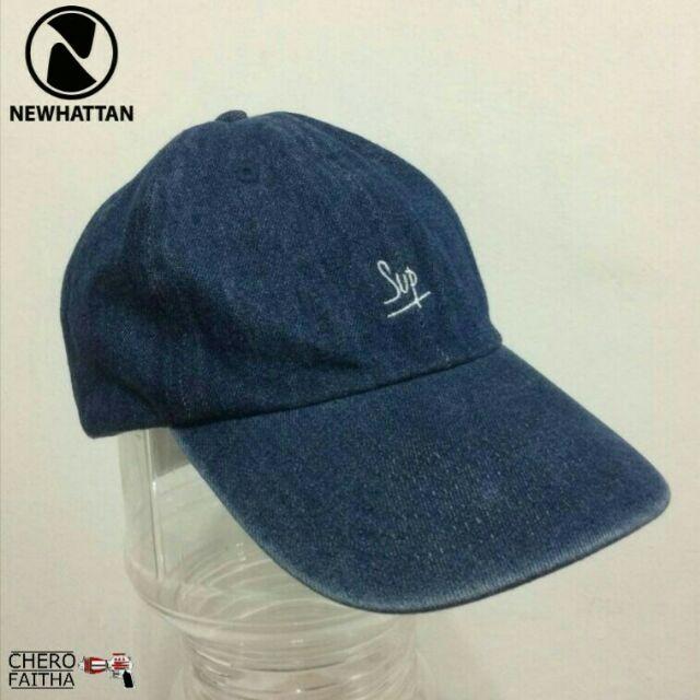 c77eb6e9202 Sup Newhattan cap strap topi jeans denim