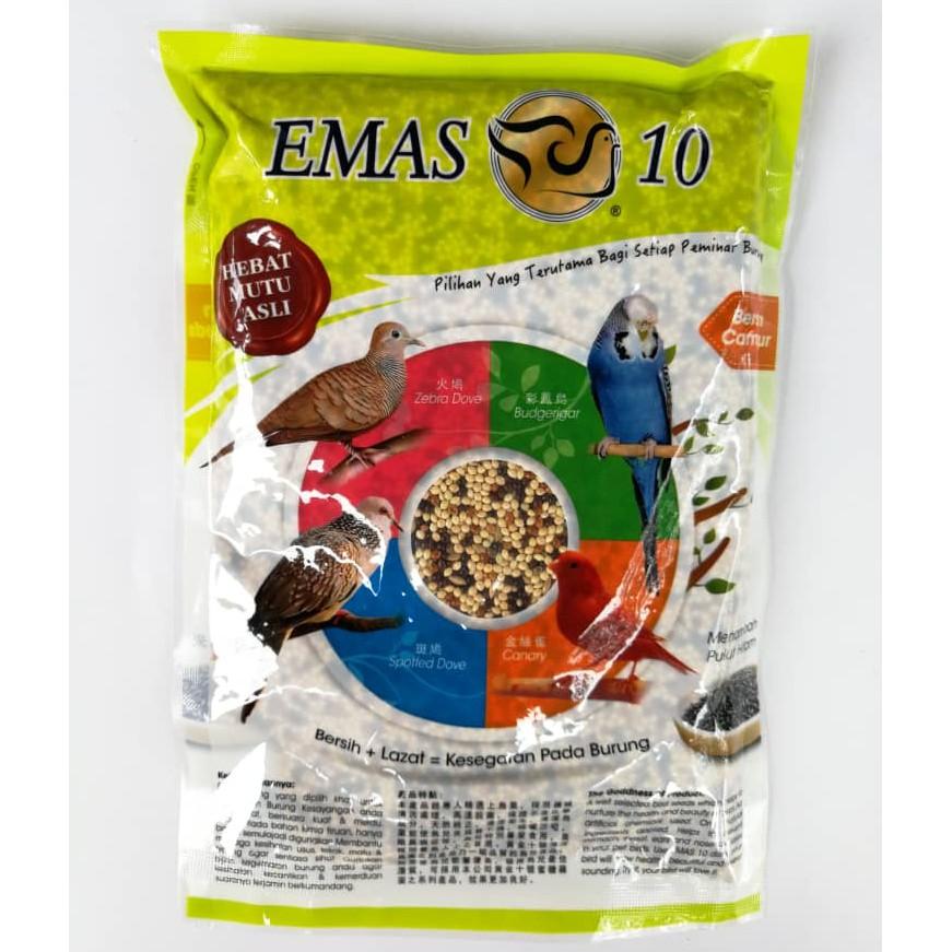 Emas 10 Mix Millet Bird Food Makanan Burung 400gram Shopee Malaysia