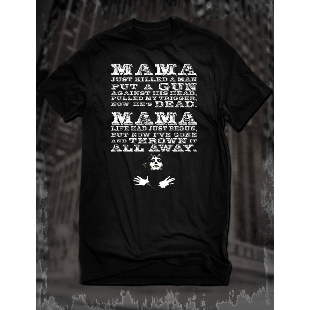 bca5ca48 Custom Freddie Mercury Queen Bohemian Rhapsody Cotton Mens T Shirt Rock  Song Lyr | Shopee Malaysia