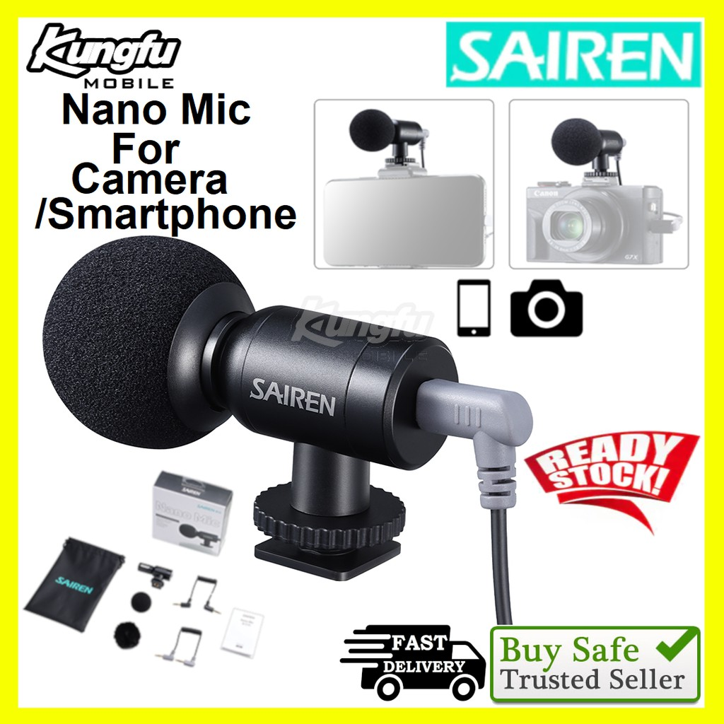 Ulanzi Sairen Nano Mic Ultra Mini Record Microphone Gopro/Vlog Mic Smartphone/Camera Microphone