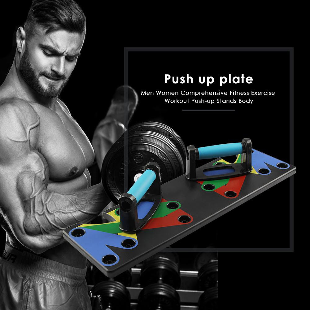 2363da3482bc3 Multifunctional 9 in 1 Push Up Rack Board System Fitness Workout Train Gym  Exercise Stands | Shopee Malaysia