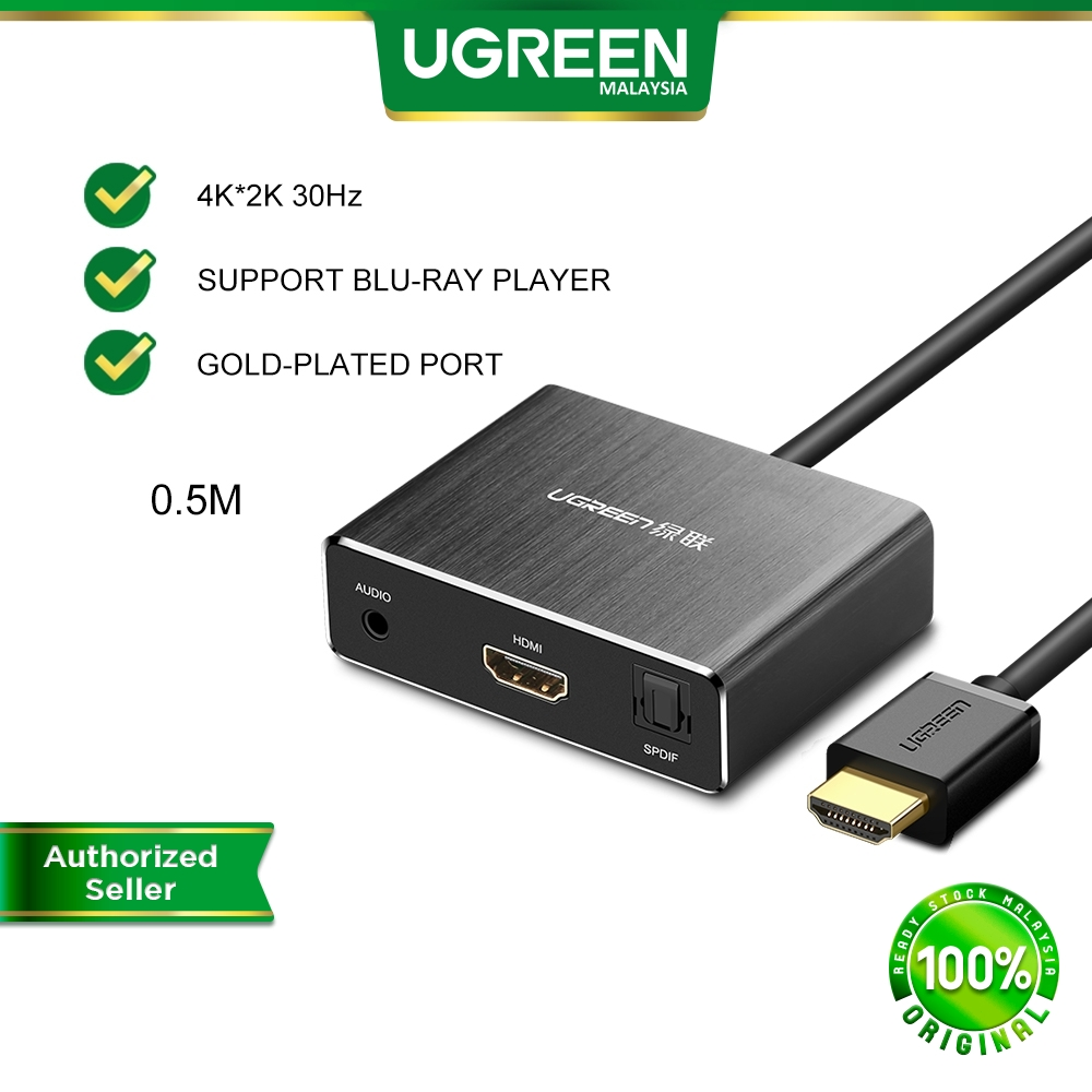 UGREEN HDMI to HDMI Converter with Optical Toslink SPDIF and 3.5mm Blu-ray DVD Player Xbox One SKY HD box PS3 PS4