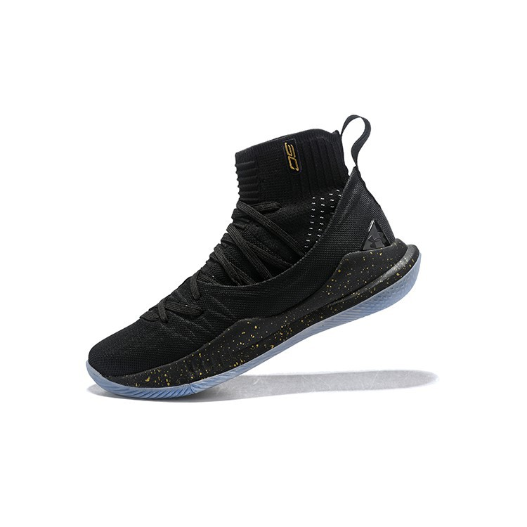31d908cc49b Under Armour Curry 5 Custom High Tops Black Gold