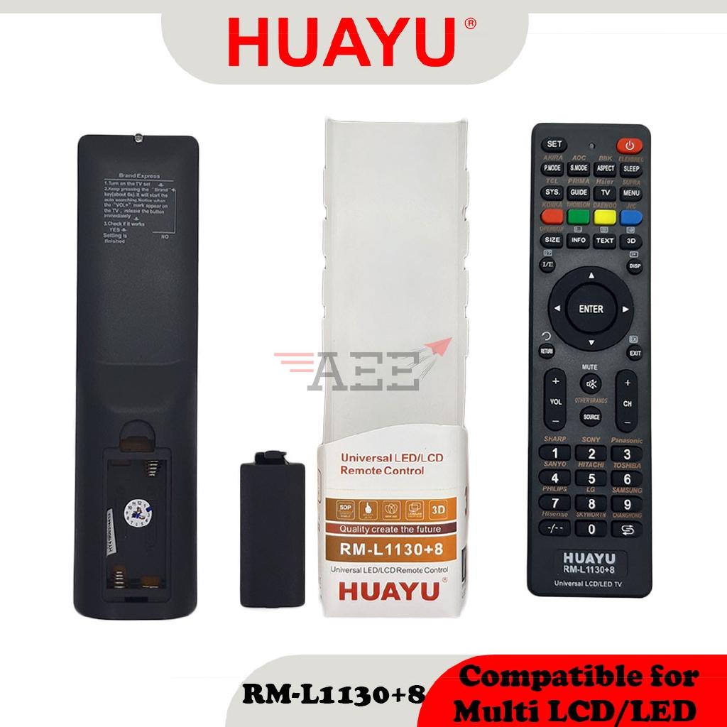 Huayu RM-1130+8 Multi LCD TV Remote Control