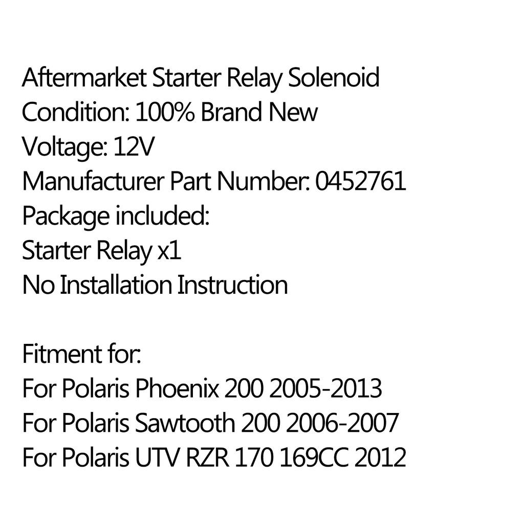 High Quality Starter Rlay Solenoid For Polaris Phoenix 200 2005-2013