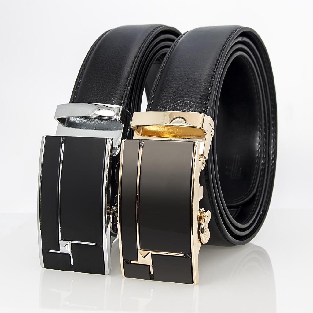 Luxury Men/'s Automatic Buckle Belts Ratchet Genuine Leather Belt Strap Waistband
