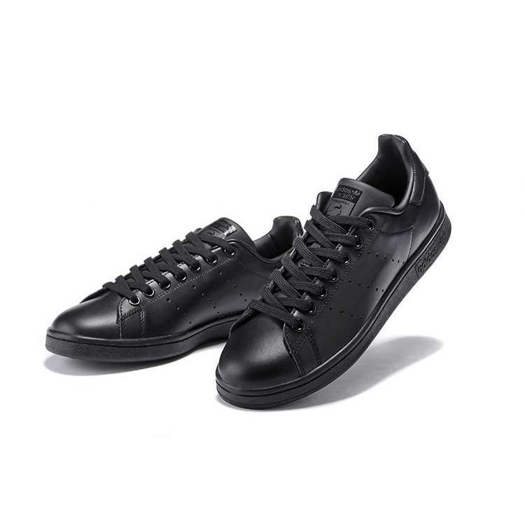 2019 New Original Adidas Stan Smith Men's and Women's casual shoes All black