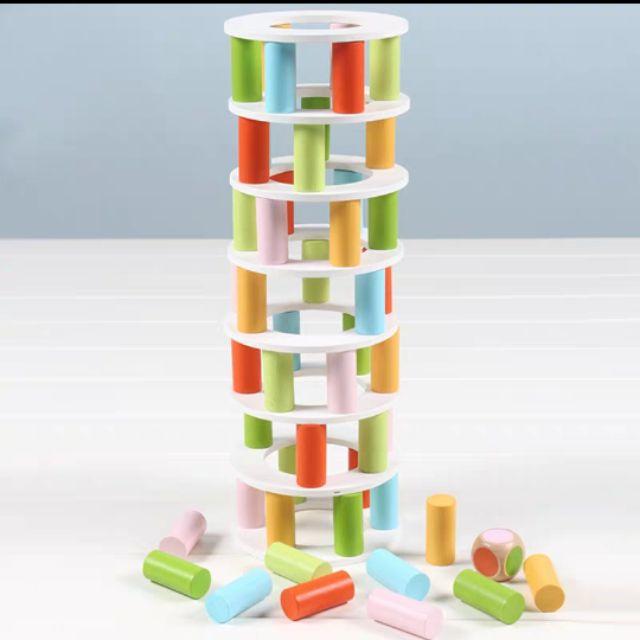 Pisa tower stacking game