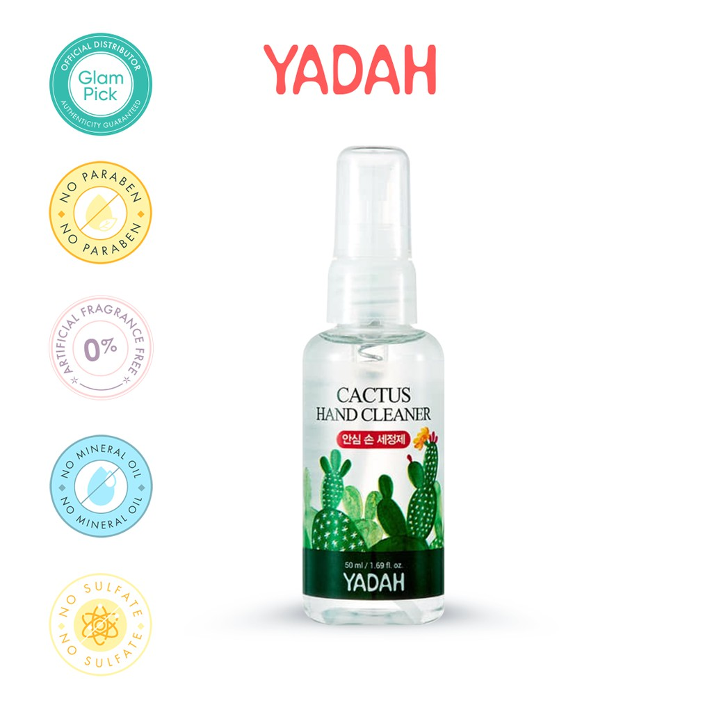 YADAH Cactus Hand Cleaner 67.5% Alcohol Sanitizer 50ml (spray type)