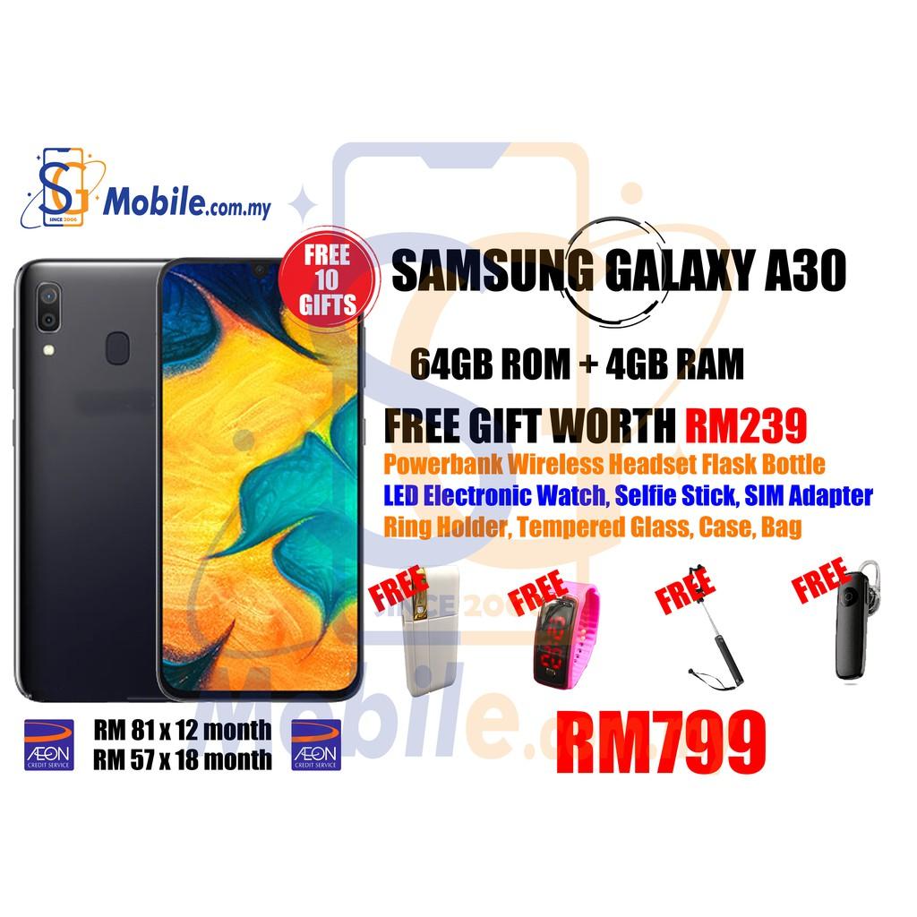 SAMSUNG GALAXY A30 [FREE 10 GIFTS][ORIGINAL SAMSUNG MALAYSIA][1 Year  Warranty by SAMSUNG MALAYSIA]