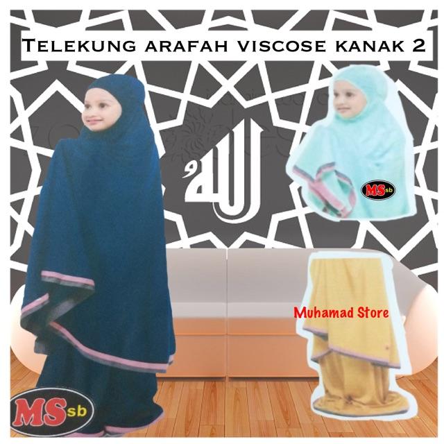 Telekung Arafah Viscoce Kanak2