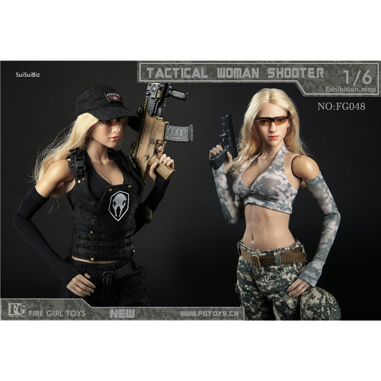 IN-STOCK Fire Girl FG048 1//6 Scale Female Tactical Shoot Clothes Set
