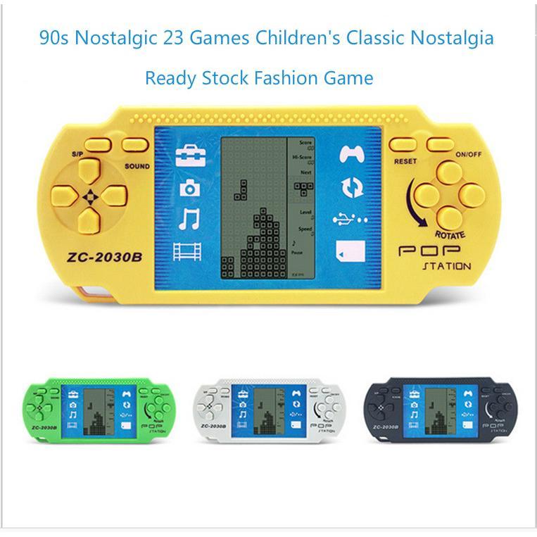 90s Nostalgic 23 Games Children S Classic Nostalgia Tetris Video Game Machine Puzzle Toys Children S Toys