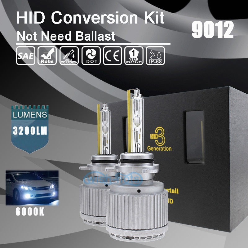 Car 55W 9005 HB3 6000K 6K White OEM HID Xenon Replacement Bulbs KIT Set Light QL