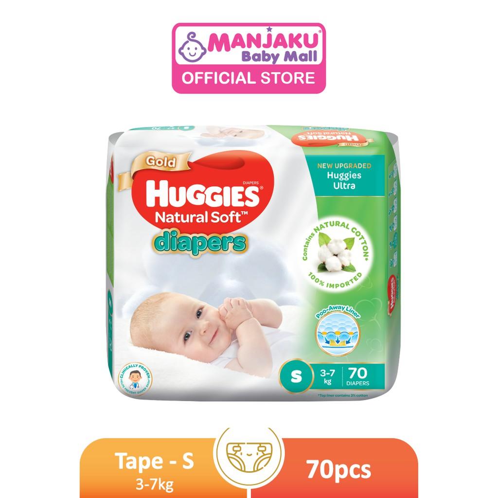Huggies Ultra Natural Soft Diapers Super Jumbo Pack - S/M/L/XL/XXL
