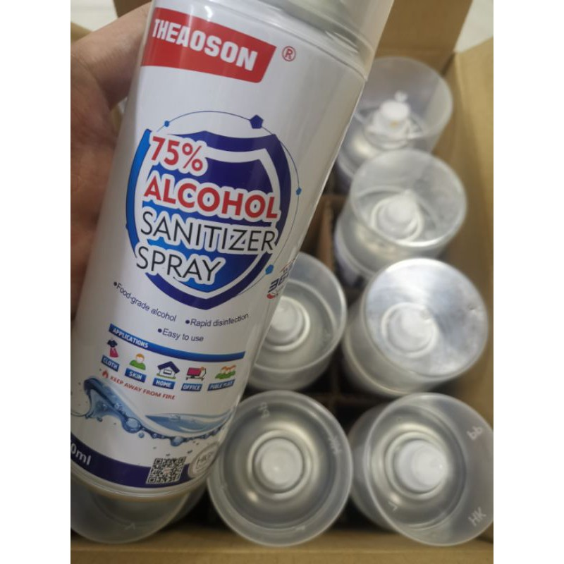 1 Carton THEAOSON Sanitizer Spray ( 75% Alcohol ) 450ml×12