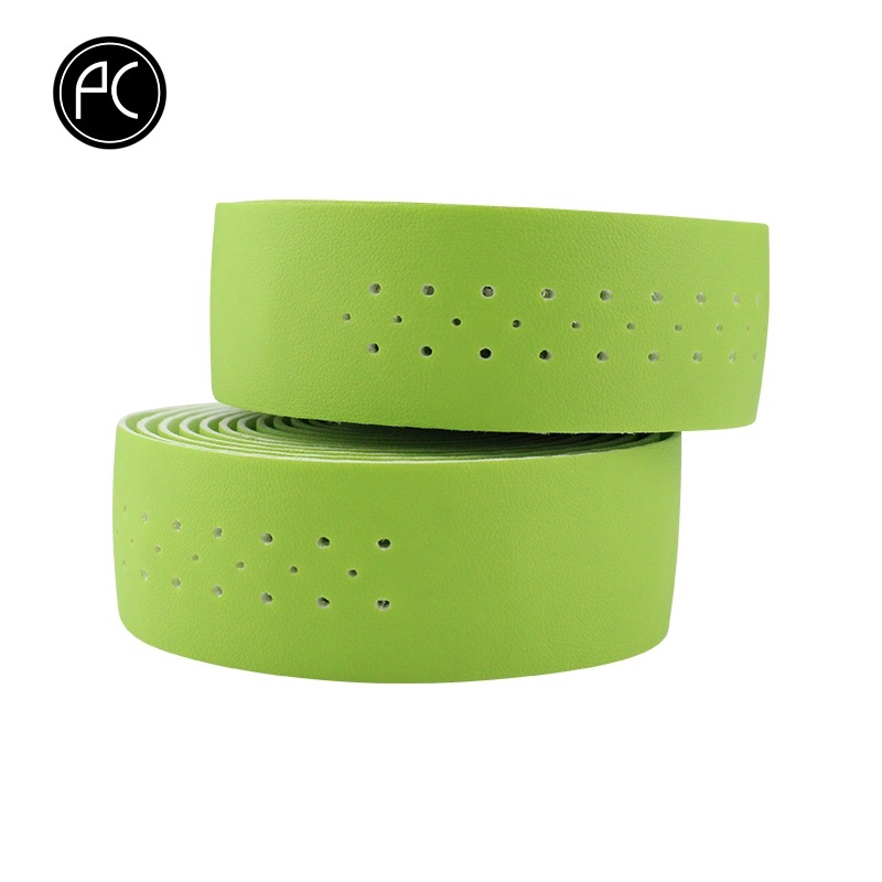 Bicycle Handlebar Tape Road Bike PU Leather Perforated Belt Breathable Soft