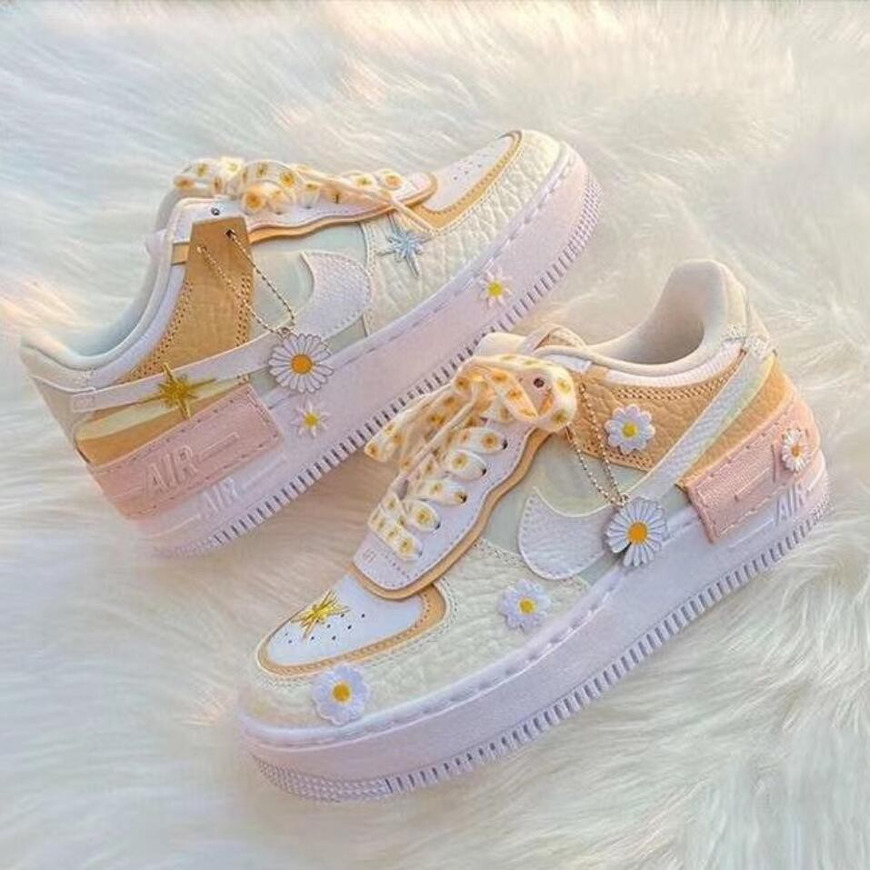 Nike Air Force 1 Shadow Af1 Cream Ice Cream Sneakers Spruce Aura White Ck3172 002 Shopee Malaysia